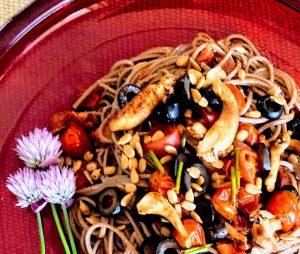 shitake soba noodles