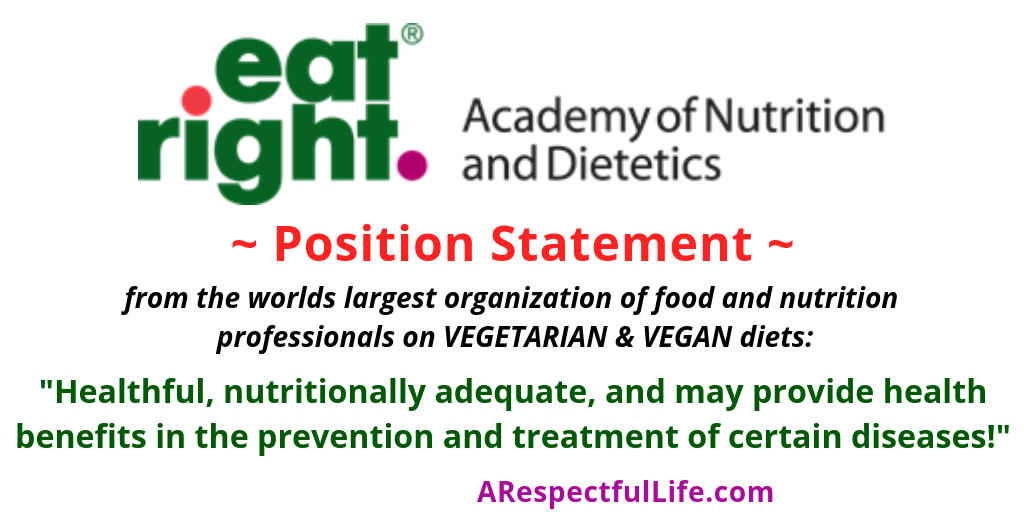 Position Statement from the academy of nutrition and dietetics on vegan diet