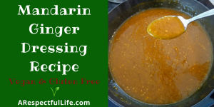 Mandarin Ginger Dressing Recipe