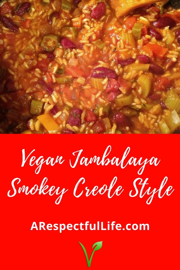 Vegan Jambalaya Smokey Creole Style