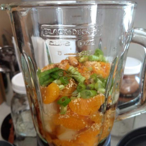 oil free vegan mandarin ginger dressing