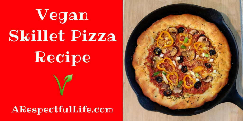 Vegan Skillet Pizza Recipe