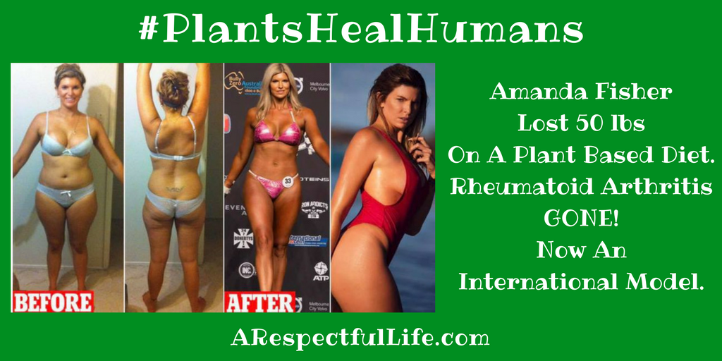 Amanda Fisher Lost 50 lbs.On a High Carb, Low Fat, Plant Based Diet.Rheumatoid Arthritis GONE