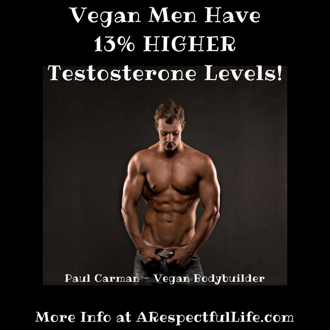 Vegan Men Have 13% HIGHER Testosterone Levels