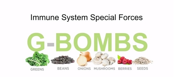 gbombs greens beans onions mushrooms berries seeds