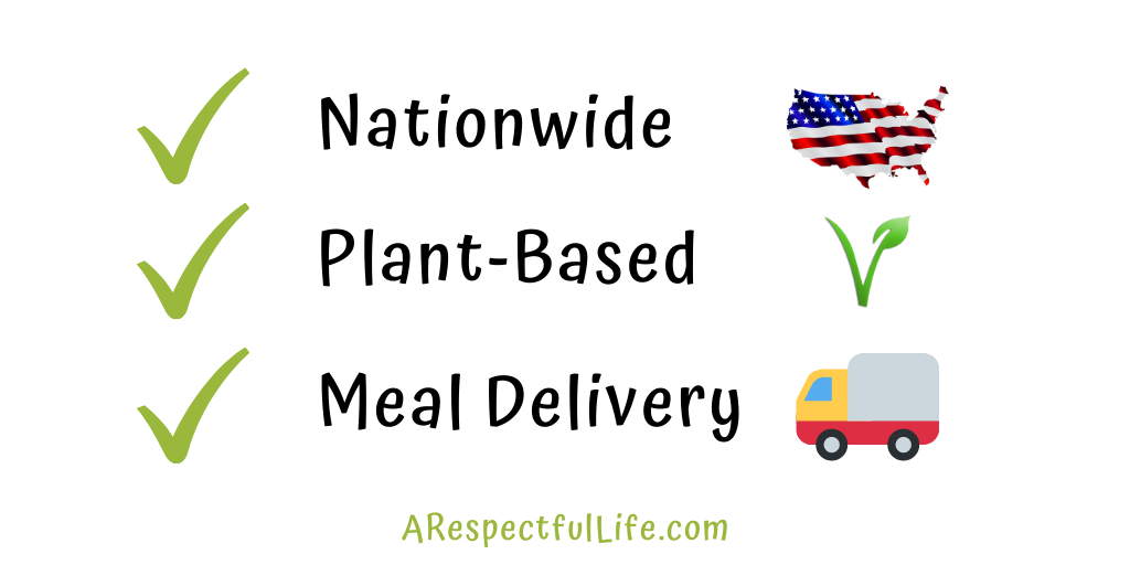 nationwide plant based meal delivery