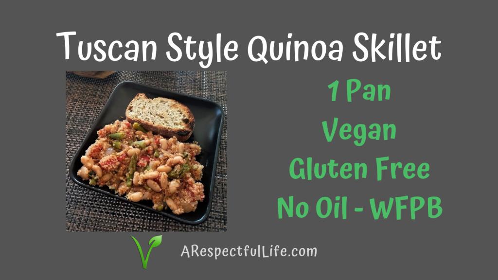 Gluten Free Vegan Tuscan Bean Skillet